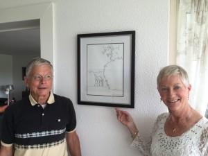 Frans en Sinjorgo met tekening Huis ter Wadding
