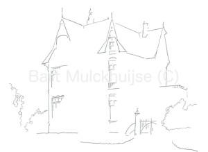 Tekening van Villa Rozenhof aan de Haagweg