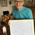 Wouter Mulckhuijse met de tekening van Oliemolenstraat 44.