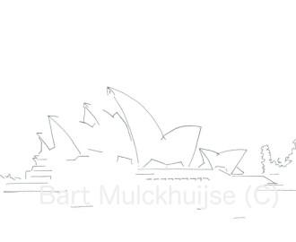 tekening-sydney-opera-house