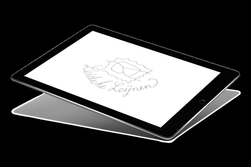Leidse Lijnen met een iPad