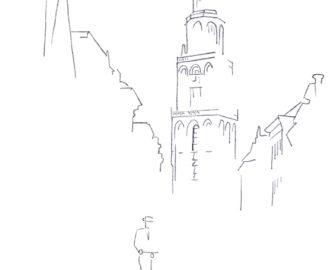 martini-toren-martinitoren-groningen-tekening