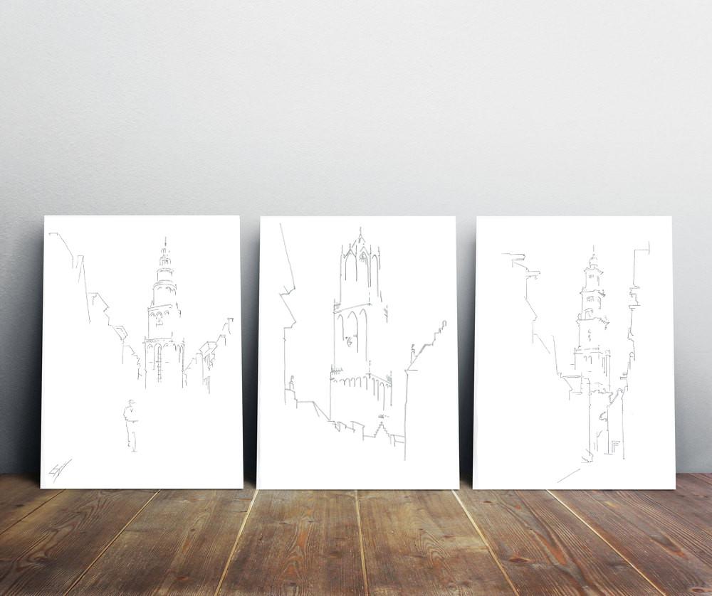 Drie keer serie van drie Leidse Lijnen
