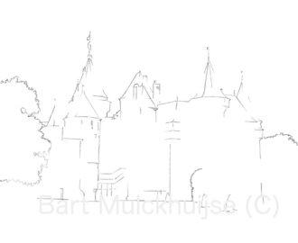kasteel-de-haar-tekening