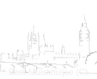 westminster-paleis-big-ben-tekening
