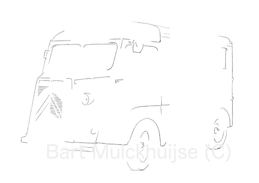 citroen-hy-classic-klassieker-tekening-leidse-lijnen