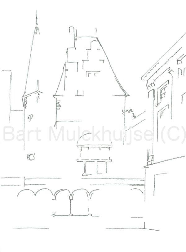 Het oude Gravensteen van Leiden