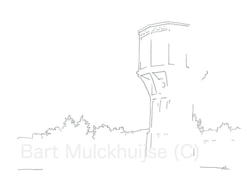 Oude watertoren van Leiden