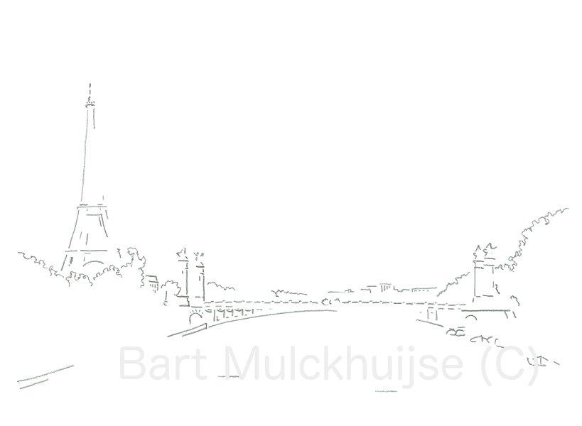 Parijs - Eiffeltoren - Pont Alexandre III