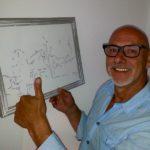 Jan met tekening boerderij