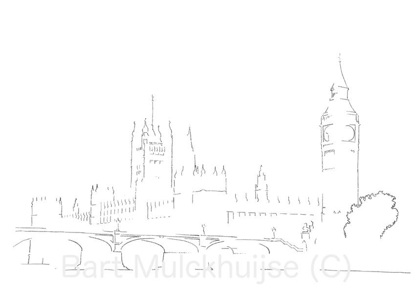 Palace of Westminster & Big Ben - Londen